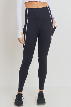 MB Black Leggings With White Details!