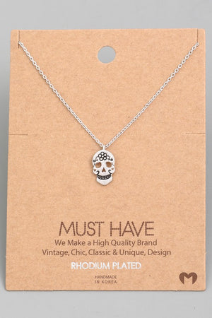 Mini Skull Necklace!