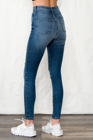 SP High Rise Skinny Jeans With Distressing!