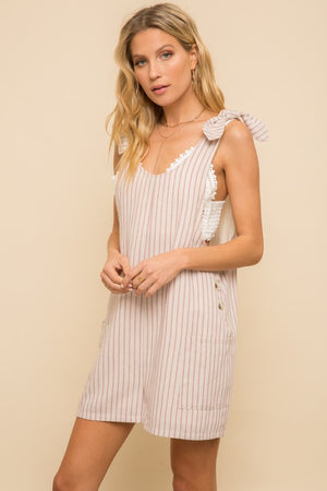 Striped Overall Romper!