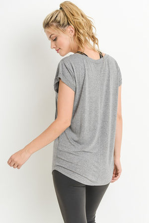 Essential Round Neck Cap Sleeve Shirt !
