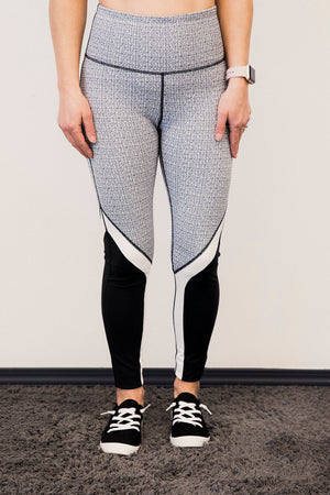 MB Flattering Black/White Workout Tight