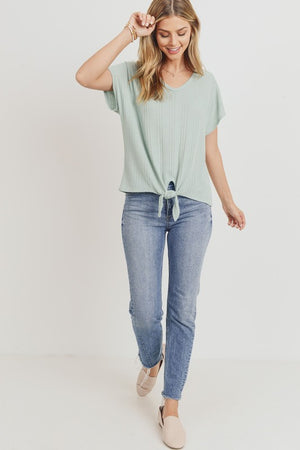 Flounce Front Tied Top