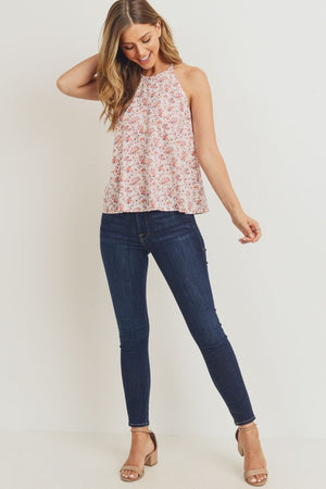Floral High Neck Tank Top!
