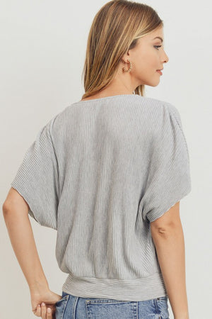 Surplice Short Sleeve Top!