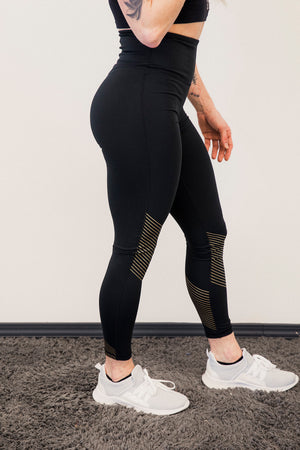 MB Compression Tight with Gold Detailing