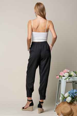 Trouser Look Jogger With Side Bottom Placket!