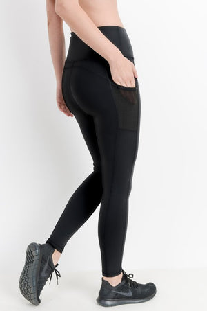 Highwaist Essential Leggings with Mesh Pockets!
