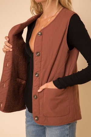 Reversible Fleece Boxy Vest!
