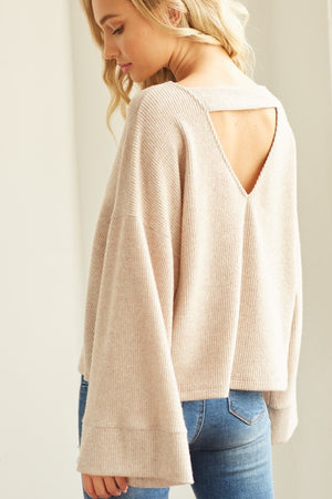 Solid Knit Cropped Sweater !