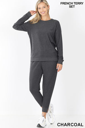 French Terry Top & Jogger Pants Set!