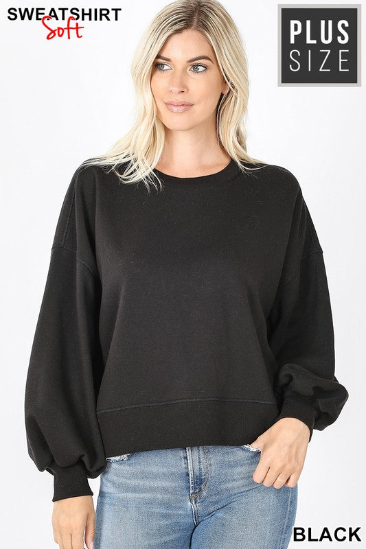 Curvy Style Balloon Sleeve Sweater!