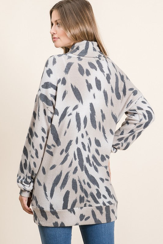 Casual Animal Print Cashmere Tunic!