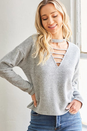 Sweater with v-neckline!