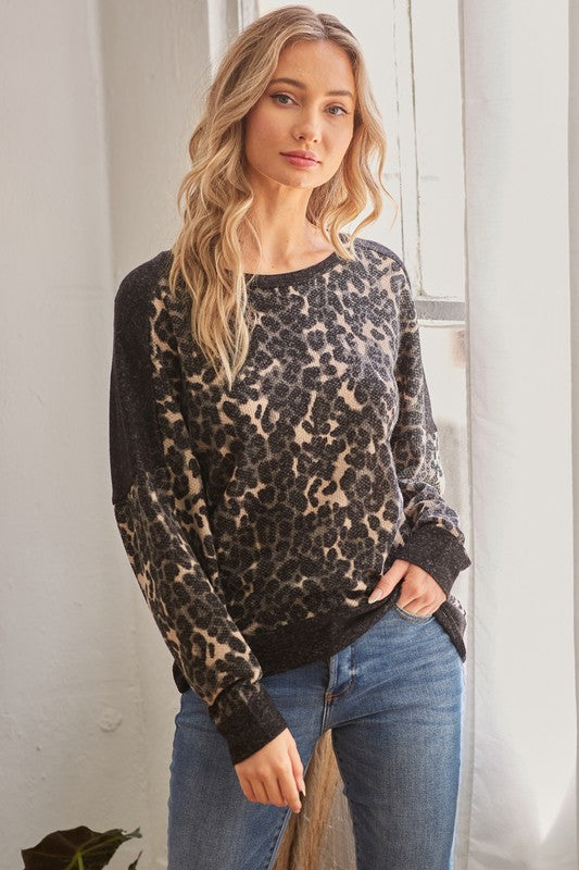 Animal Print Longsleeve Top!