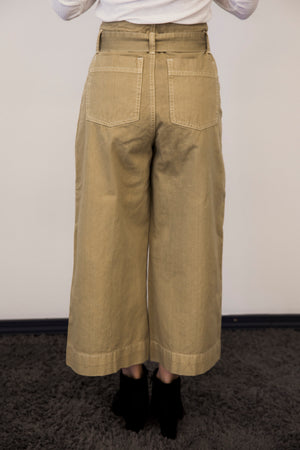High Waisted Stove Pipe Pant