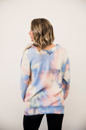 FL Brushed Tie Dye Top