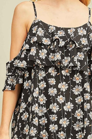 EN Cold Shoulder Floral Blouse!