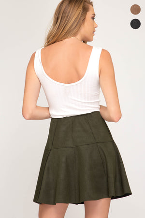 Faux Suede Mini Skirt!
