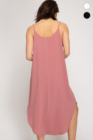 Woven Cami Hi Low Dress!