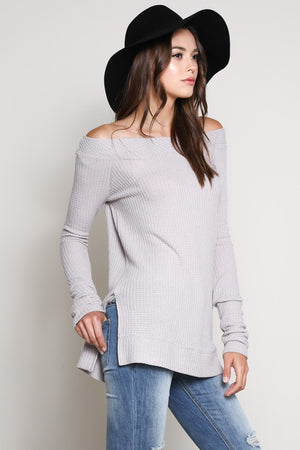 Off Shoulder Long Sleeve Top!