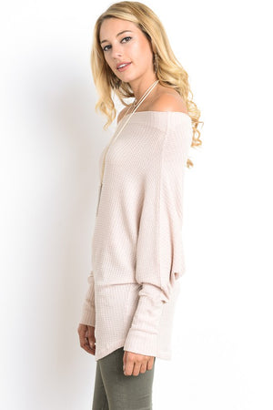 Off The Shoulder Batwing Sweater!