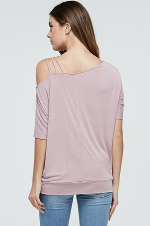 Off The Shoulder Asymmetrical Neckline Top