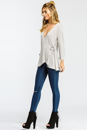Cher Deep V Criss Cross Blouse