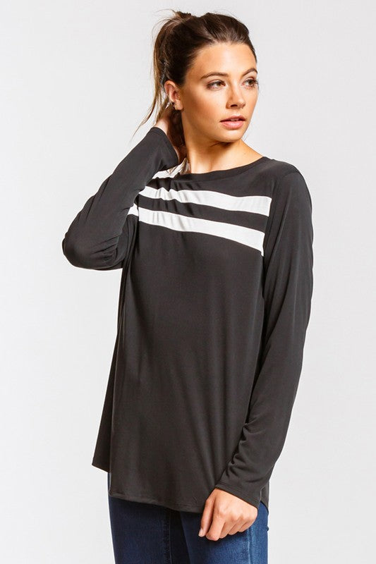 Cher Casual Fit Striped Top