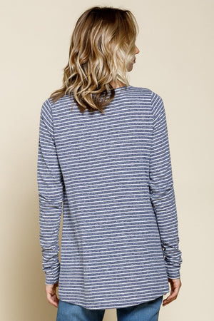 Triblend Striped Long Sleeve Top!