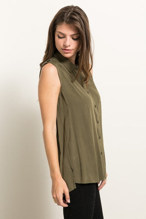 Olive Sleeveless ToP!