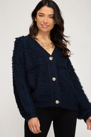 Long Sleeve Puffy Knit Sweater!