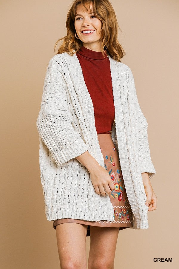 Chunky Knit Open Cardigan!