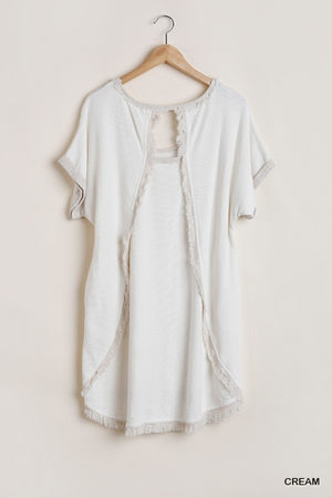 Wide Neck Dress with Short Sleeves!