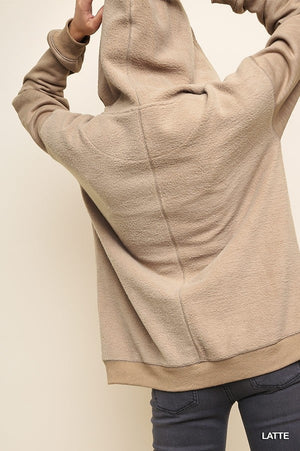 Long Sleeve Zip Up Hooded Sweatshirt!
