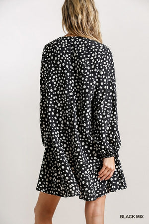 Long Sleeve Print Dress!