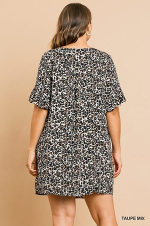 Animal Print Dress In Curvy Style!