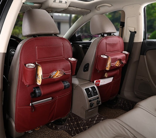 Leather Car Seat Back Organizer - Fashion Accessories - Just Say Tees