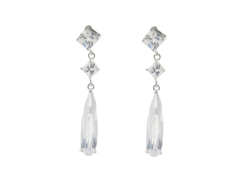 Bridal Baguette Earrings - Jewelry & Watches - Just Say Tees