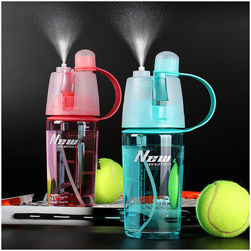 400ML::600ml Sports Water Bottle Spray Bottle Space - Gifts - Just Say Tees