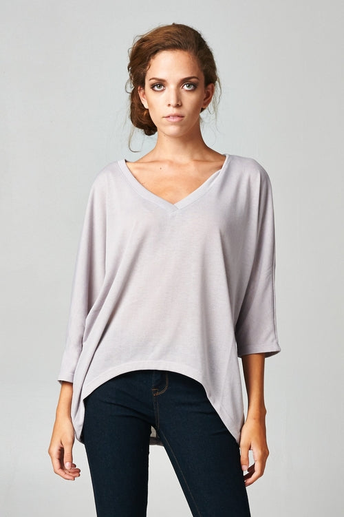 Women's Long Sleeve Jersey V-Neck Top - Just Say Tees