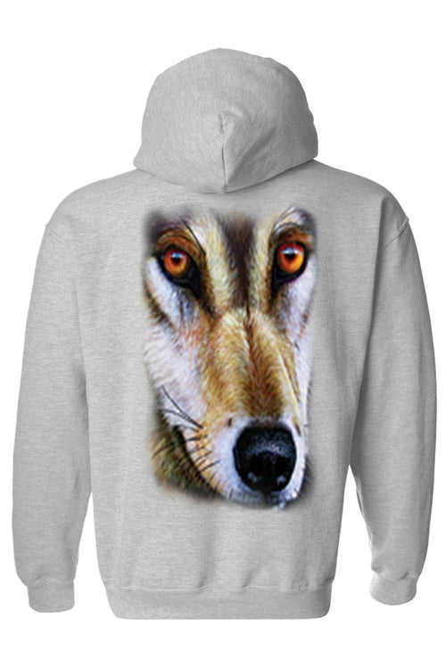 Men's/Unisex Zip-Up Hoodie Wolf - Men's Clothing - Just Say Tees