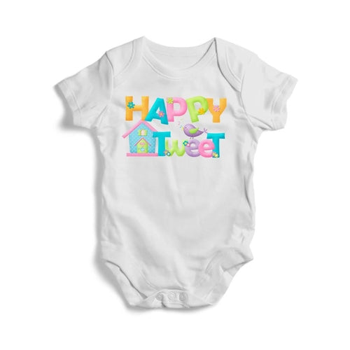 Happy Tweet Baby Short Sleeve Bodysuit - Just Say Tees