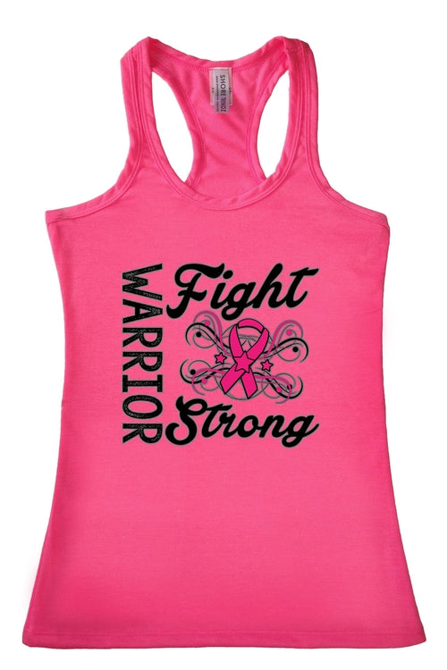 Women's Warriors F TANK TOP PINK - Women's Clothing - Just Say Tees