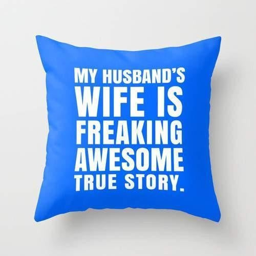 Husband Wife Pillow - Just Say Tees