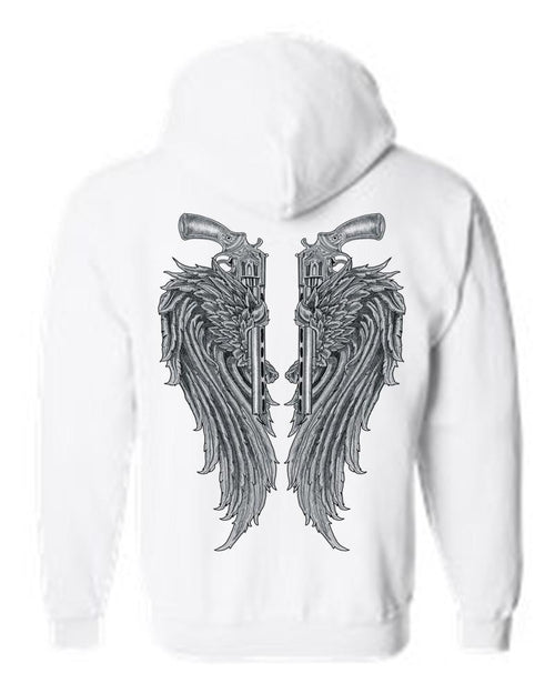 Women's/Unisex Zip-Up Hoodie Beautiful Angel Wings - Just Say Tees