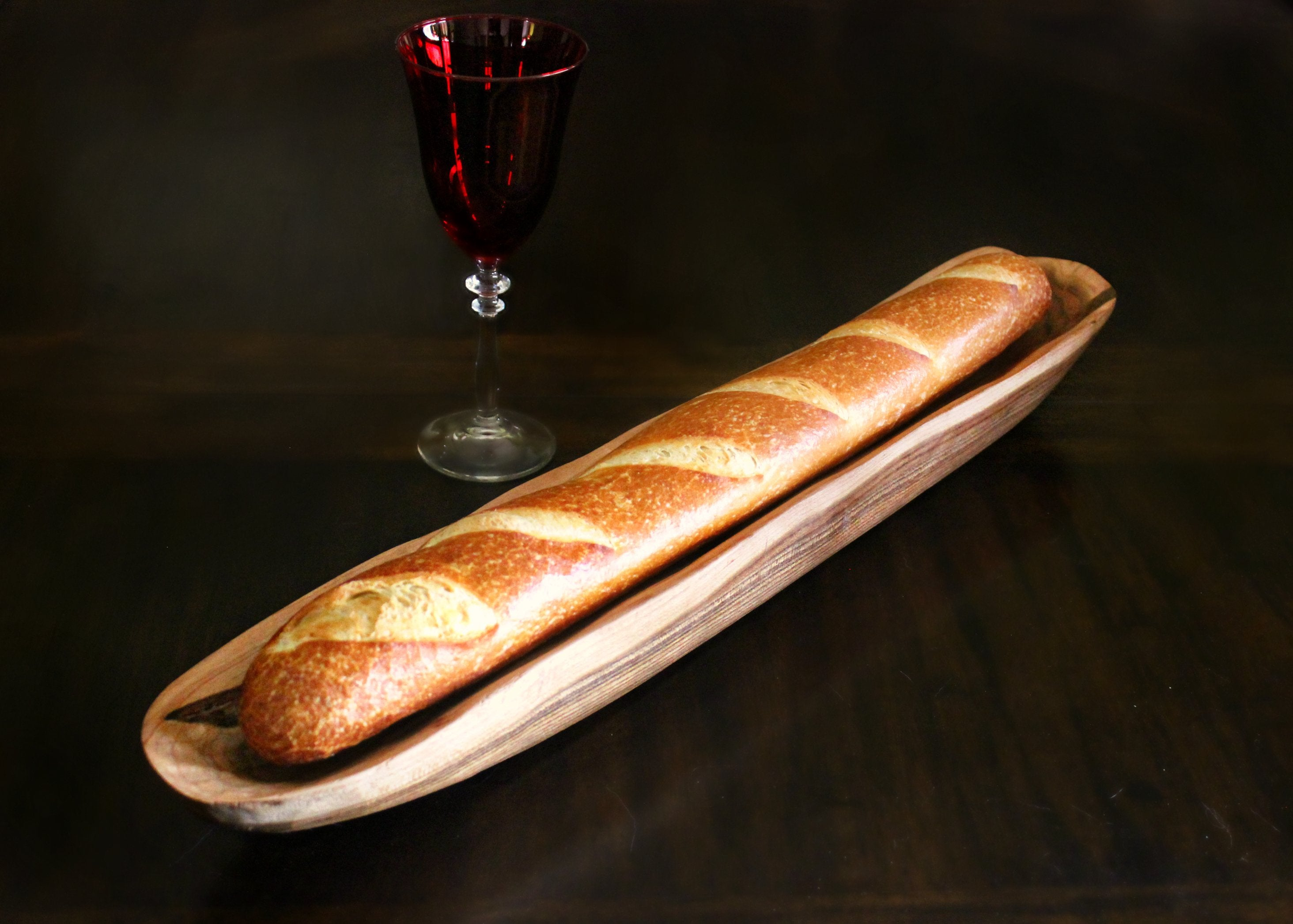 Wood Baguette Tray