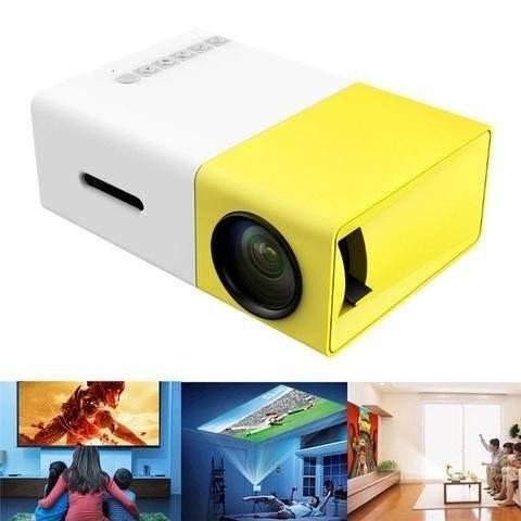 Full HD 1080P Home Theater LED Mini Multimedia Projector, Compact Pocket Projector