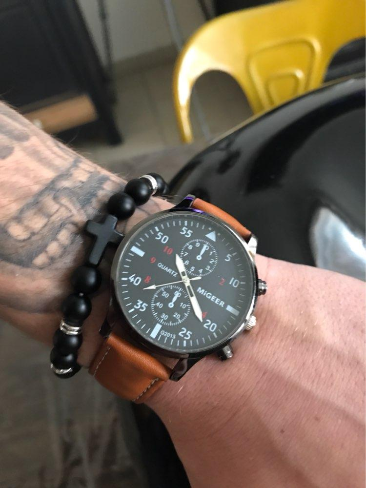 Leather Sport Watch