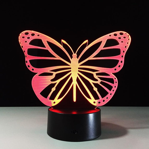 """Butterfly"" LED 3D Lamp"